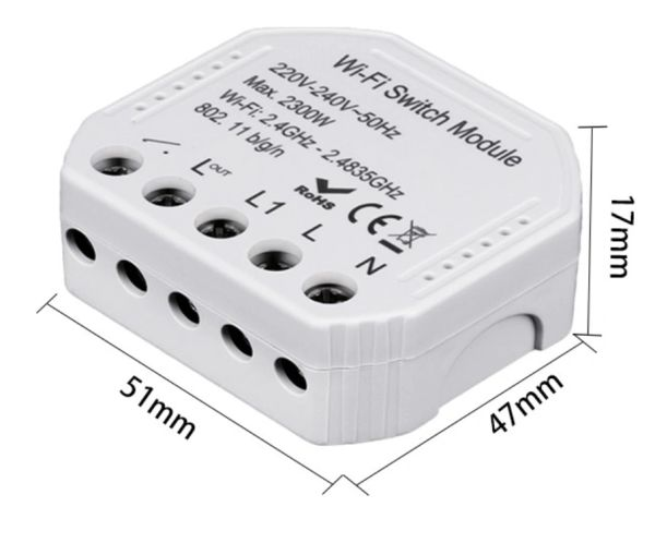 Retro-Fit one gang wifi bluetooth controlled switch module 220V 16A app control