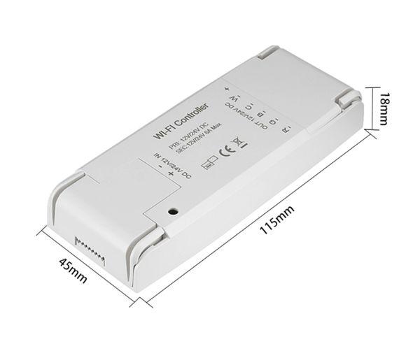 Smart led strip dimmer RGB controller Alex Google wireless controlled WIFi