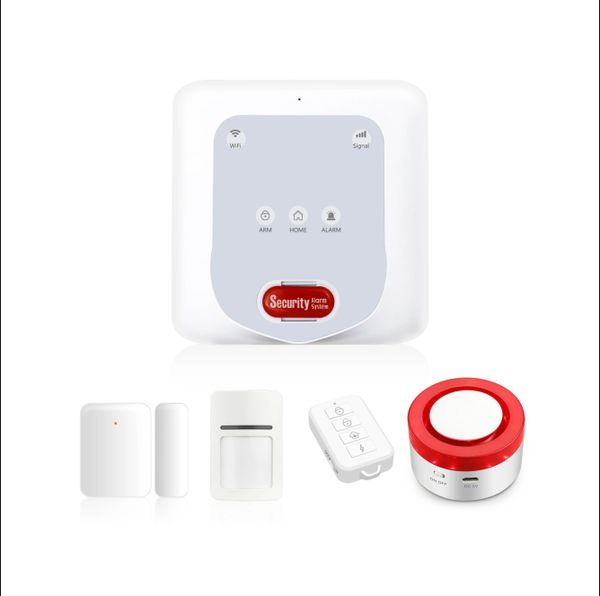 Smart gateway + 2G/3G/4G + alarm system for home security and automation