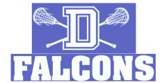 Crossed Sticks with D Lacrosse T-Shirt