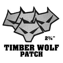 Timber Wolf Embroidered Patch
