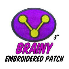 BRAINY Embroidered Patch