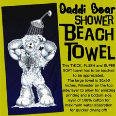Daddi Bear in Shower Beach Towel