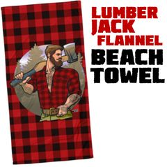 Lumber Jack Flannel Beach Towel