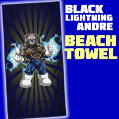 BLACK LIGHTNING ANDRE Beach Towel