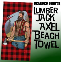 Lumber Jack: AXEL Beach Towel