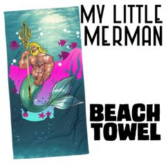 MY LITTLE MERMAN Beach Towel