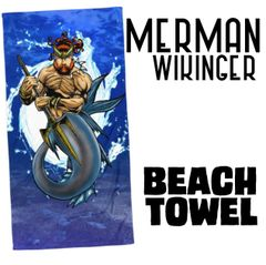 MERMAN WIKINGER Beach Towel