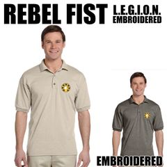 REBEL L.E.G.I.O.N. Fist Embroidered shirts