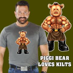 PIGGI BEAR LOVES KILTS