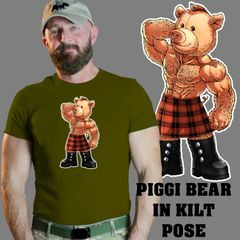 PIGGI BEAR in Kilt Pose Shirt