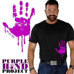 PURPLE HAND PRINT shirt