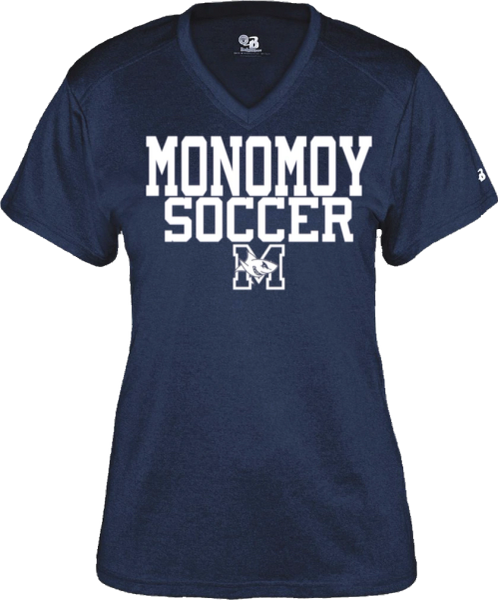 MONOMOY SOCCER WOMENS PRO HEATHER T-SHIRT
