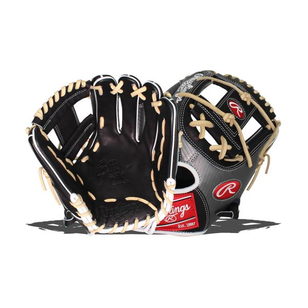 "Rawlings Heart of the Hide Hyper Shell 11.5"" Baseball Glove: PRO204-2BCF RH THROW"
