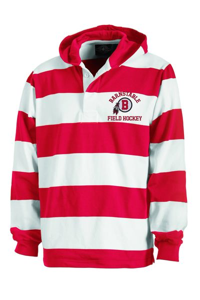 Red and White Field Hockey Rugby Shirt