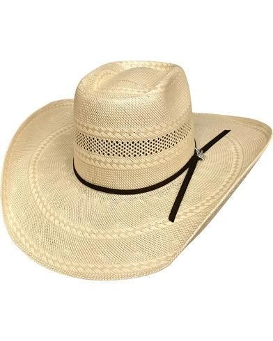 101839163 BULLHIDE GLEASON 100X 7 3/8 Large Straw Cowboy Hat - (NATURAL/TAN) Color