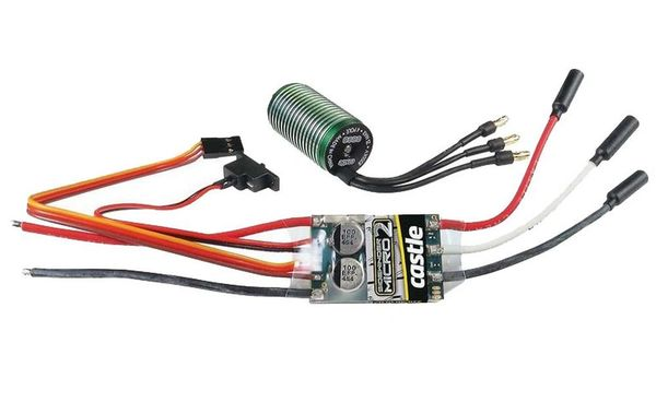 Castle Creations Sidewinder Micro 12 6V Esc, 2A Peak Bec W/0808-5300Kv Motor