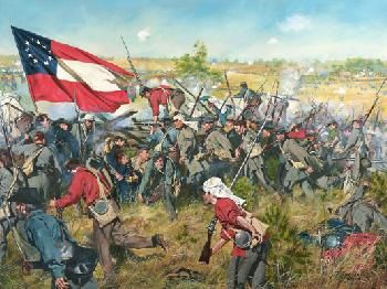 Never Give Up THe Field, Battle of First Manassas - July 21, 1861 By Don Troiani