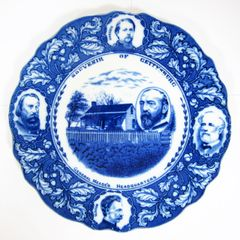 Gettysburg Souvenir Plate Depicting Civil War Generals