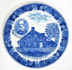 Gettysburg Souvenir Plate Depicting General Lee's Headquarters