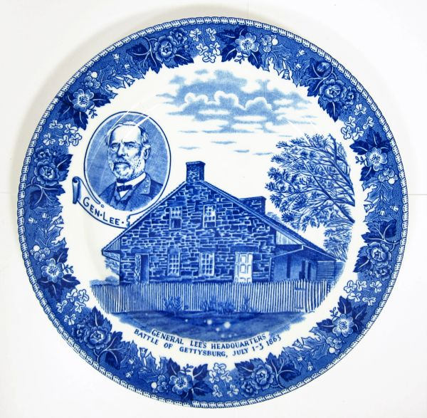 Gettysburg Souvenir Plate Depicting General Lee's Headquarters