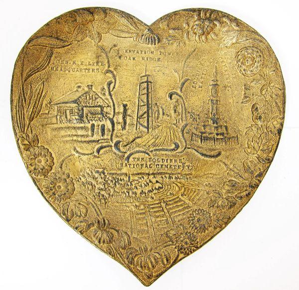 Gettysburg Souvenir Heart Shaped Plate