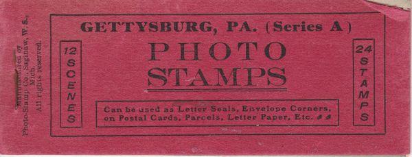 Gettysburg Souvenir Gettysburg Photo Stamps