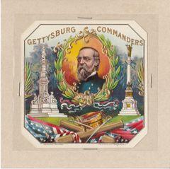 Gettysburg Souvenir Gettysburg Commanders Cigar Box Label