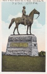 Gettysburg Souvenir Postcard of Major-General Meade Statue
