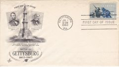 Gettysburg Souvenir Civil War Centennial Envelope With Stamp