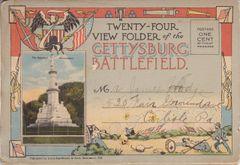 Gettysburg Souvenir View Folder of the Gettysburg Battlefield