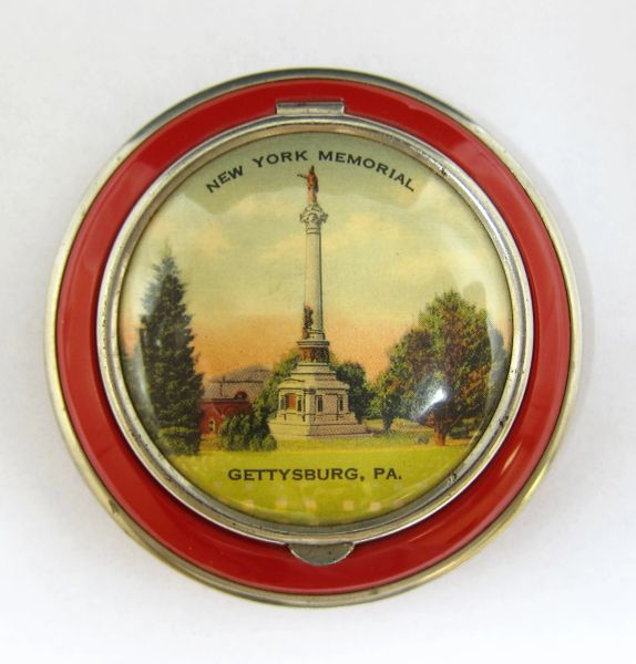 Gettysburg Souvenir New York Memorial Powder Compact