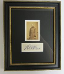 Framed CDV and Signature of General John Foster