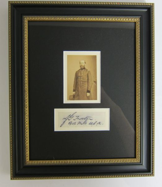 Framed CDV and Signature of General John Foster