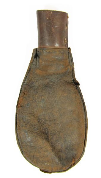 Civil War Era Leather Shot Flask