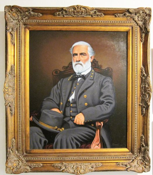 Oil Painting Of General Robert E. Lee By Rommel Siron