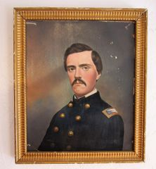 Colonel Matthew Henry Avery 10th New York Cavalry Painting On Artist Board