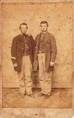 Privates Daniel B. Kauffman and Isaac Musser, Company D, 1st Regiment PRVC