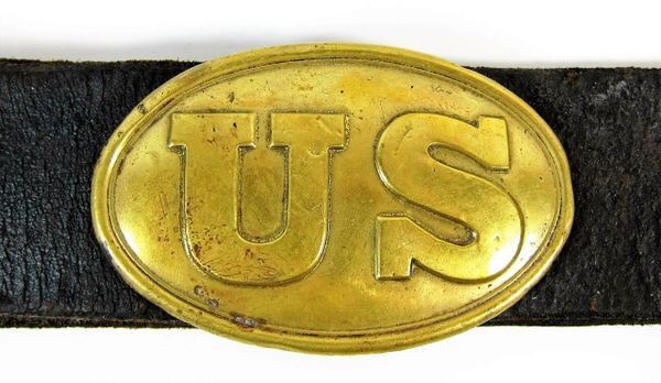 Civil War Leather Belt With Plate / SOLD