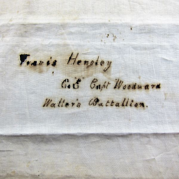 """Confederate Blanket Identified to Travis Hensley Co """"E"""" Captain Woodward Waller's Battalion, 13th Texas Cavalry"""
