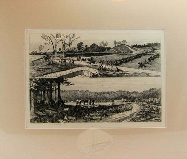 Edwin Forbes Engraving Plate No. 38 A Halt for Twenty Minutes