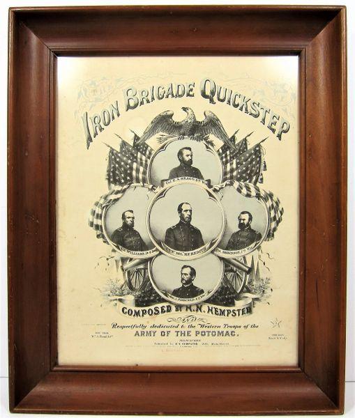 Framed The Iron Brigade Quickstep Music Sheet