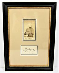 Framed CDV and Signature of Silas Casey, Major-General