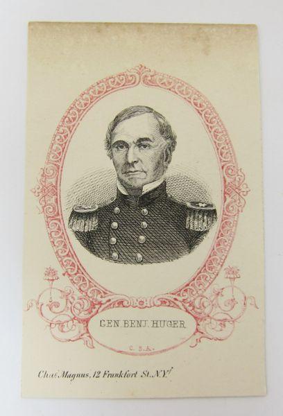 Charles Magnus Engraving CDV of Confederate General Benjamin Huger