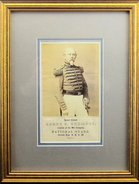 Albumen of Brevet Colonel Henry C. Shumway, Captain of the 8th Company National Guard, 7th Regiment NYSM