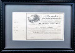 Confederate States of America Non Taxable Certificate