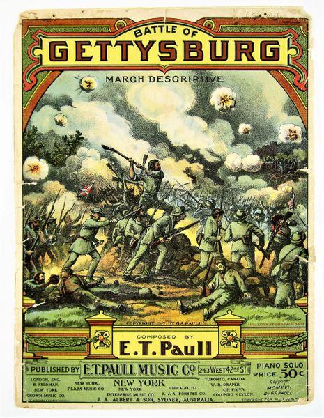 Battle of Gettysburg March Descriptive By E. T. Paul