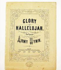 Original Song Sheet Glory Hallelujah
