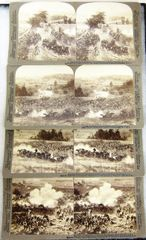 Panoramic Stereoview of Gettysburg