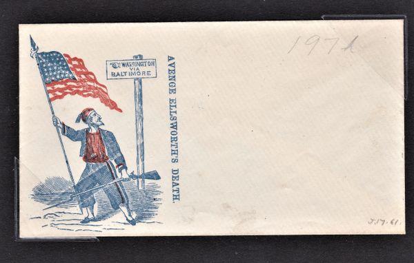 Colonel Elmer Ellsworth Mourning Envelope